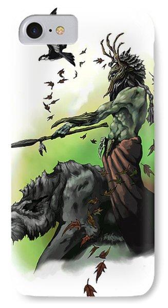Dungeon iPhone 7 Case - Druid by Matt Kedzierski