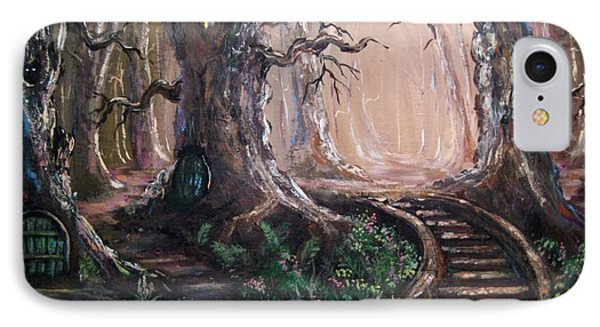 IPhone Case featuring the painting Druid Walk by Megan Walsh
