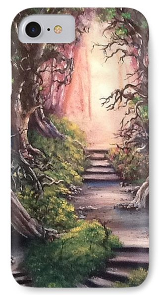 IPhone Case featuring the painting Druid's Walk by Megan Walsh