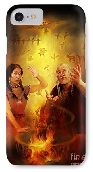 Drum Story Elders Teaching IPhone Case by Rob Corsetti