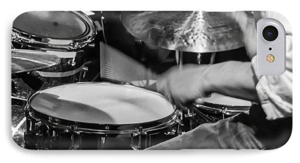 Drummer At Work IPhone Case