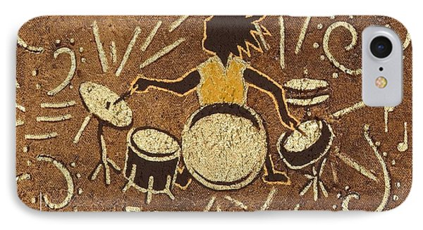 Drummer Phone Case by Katherine Young-Beck