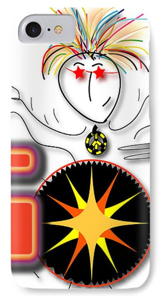 IPhone Case featuring the drawing Drummer Spike by Marvin Blaine