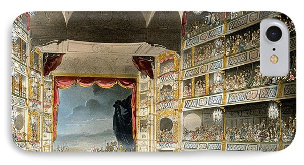 Drury Lane Theater IPhone Case by Pugin and Rowlandson