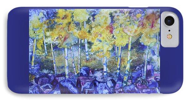 Dry Creek Aspens IPhone Case by Nancy Jolley
