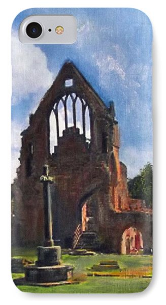 A Space To Cherish Dryburgh Abbey  IPhone Case by Richard James Digance