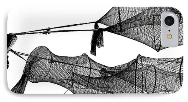 Drying Fishing Trap Nets On Poles Phone Case by Niels Quist
