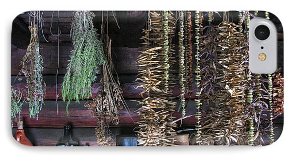 Drying Herbs And Vegetables In Williamsburg IPhone Case by Dave Mills