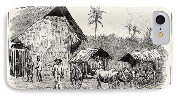 Drying Sheds For Tobacco, Sumatra, Indonesia IPhone Case