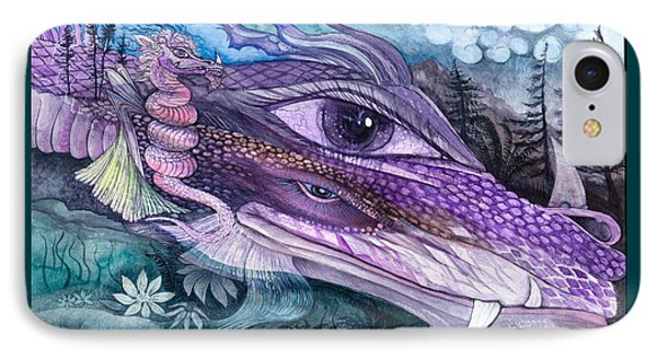 Dual Dragons IPhone Case by Adria Trail