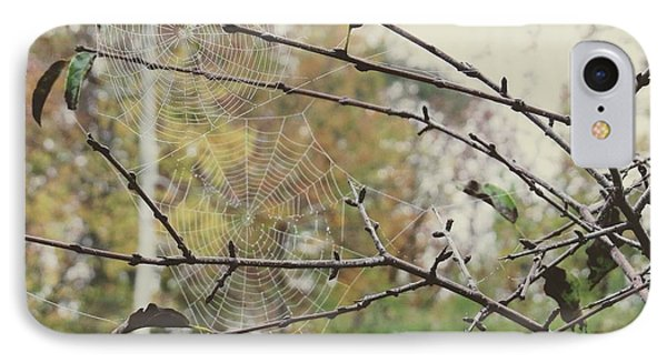 IPhone Case featuring the photograph Dual Webs by Nikki McInnes