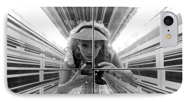 Duality Self Portrait In The Cube IPhone Case by Venetia Featherstone-Witty