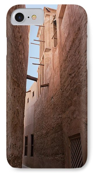 Dubai Alley With Wind Tower. IPhone Case by Mark Williamson