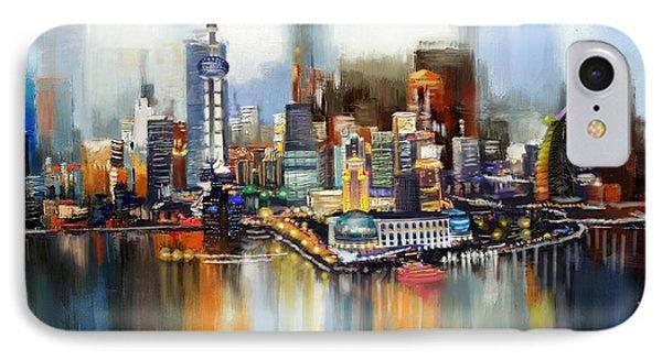 Dubai Skyline  IPhone Case by Corporate Art Task Force