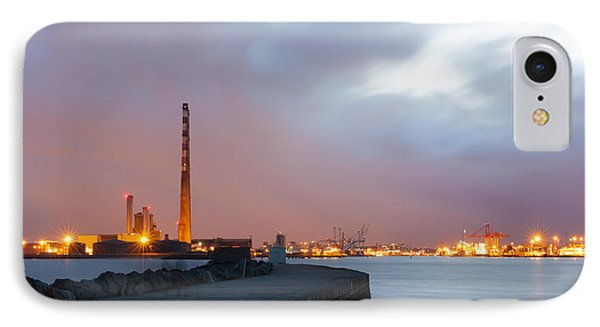 Dublin Port At Night IPhone Case by Semmick Photo