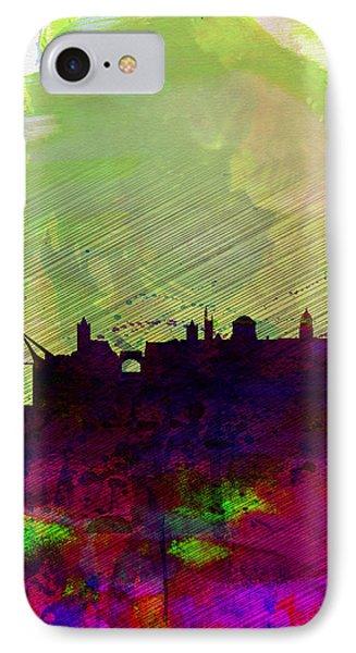 Dublin Watercolor Skyline IPhone Case by Naxart Studio