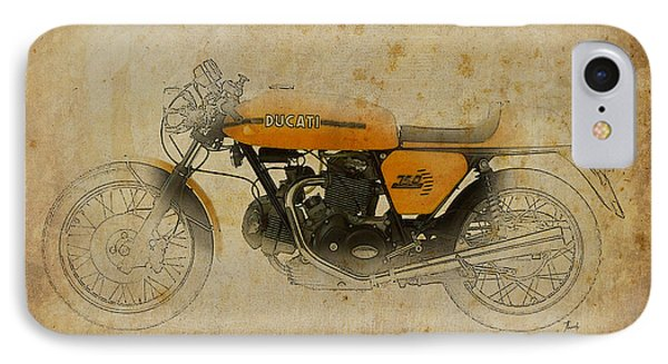 Ducati 750 Sport 1973 IPhone Case by Pablo Franchi