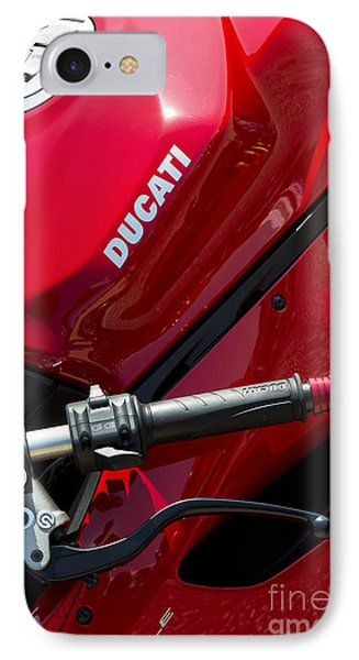Ducati Red Phone Case by Tim Gainey