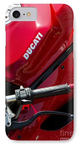 Ducati Red IPhone Case by Tim Gainey