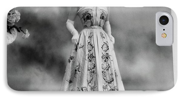 Duchess Of Windsor In A Dior Ball Gown IPhone Case by Cecil Beaton
