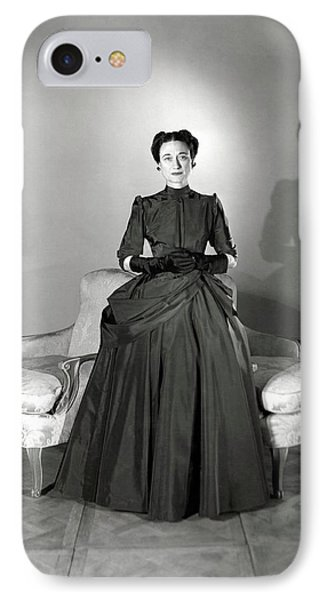 Duchess Of Windsor In Mainbocher Gown IPhone Case by Horst P. Horst