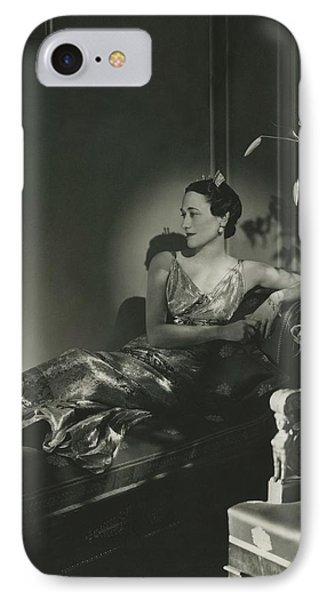 Duchess Of Windsor Reclining IPhone Case by Horst P. Horst