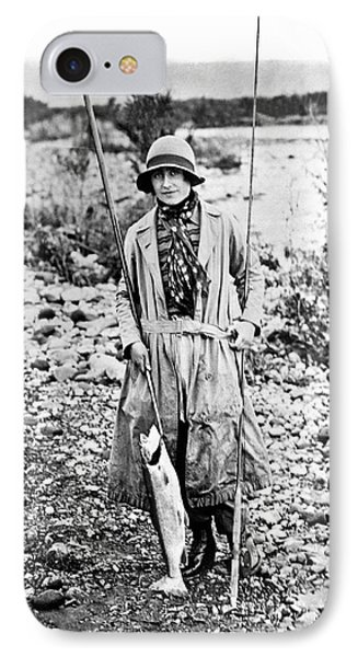 Duchess Of York Catches Trout IPhone Case by Underwood Archives