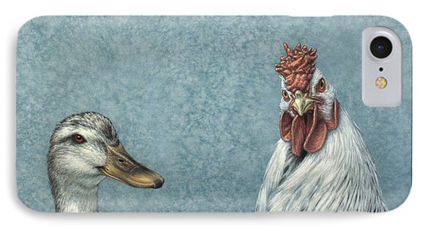Duck Chicken Phone Case by James W Johnson