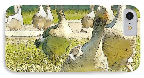 Duck Duck Goose Phone Case by Artist and Photographer Laura Wrede