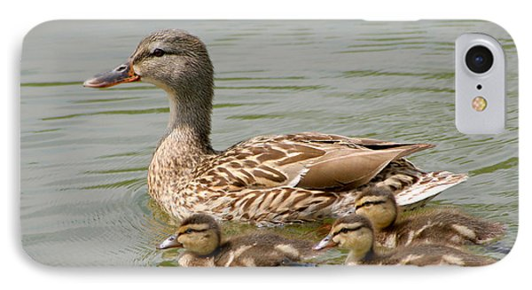 IPhone Case featuring the photograph Duck Family by Bob and Jan Shriner