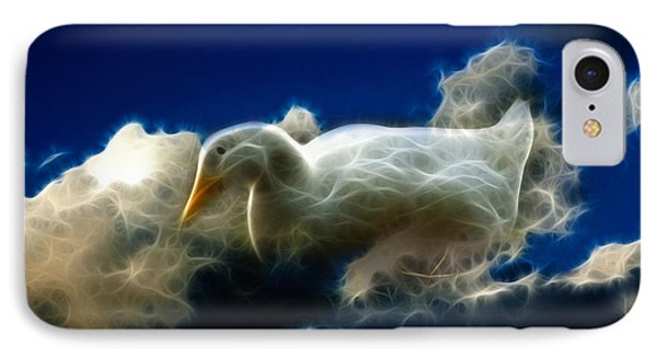 Duck In The Clouds - F IPhone Case by James Ahn