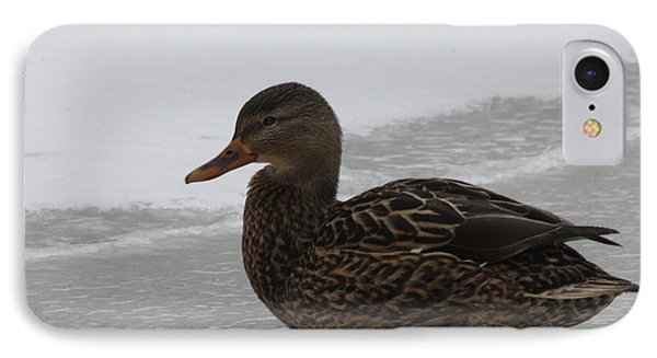 IPhone Case featuring the photograph Duck On Ice by John Telfer