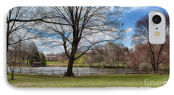 Duck Pond Haverford College Phone Case by Kay Pickens