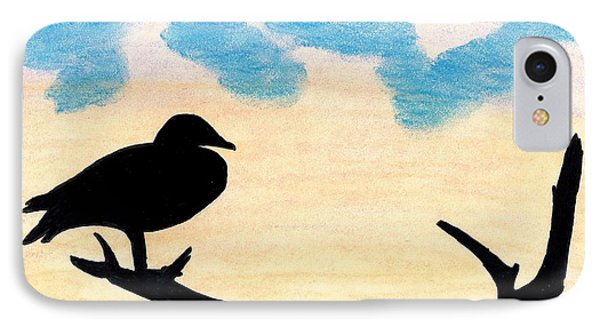 IPhone Case featuring the drawing Duck Sunset by D Hackett