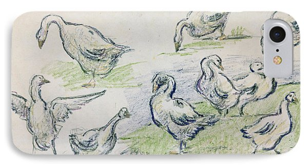 Ducks IPhone Case by Alfred Sisley