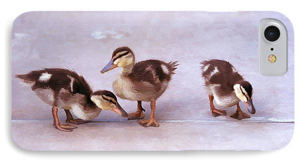 Ducks In A Row IPhone Case by Clare VanderVeen