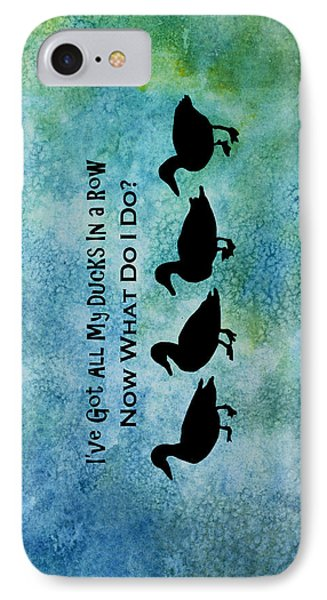 Ducks In A Row IPhone 7 Case by Jenny Armitage