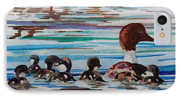 Ducks In A Row Phone Case by Terry Holliday