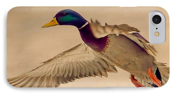 Ducks In Flight Phone Case by Bob Orsillo