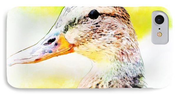IPhone Case featuring the painting Ducky by Wayne Pascall