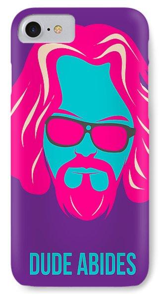 Dude Abides Purple Poster IPhone Case