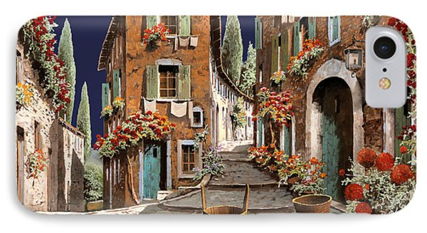Due Strade Al Mattino IPhone Case by Guido Borelli