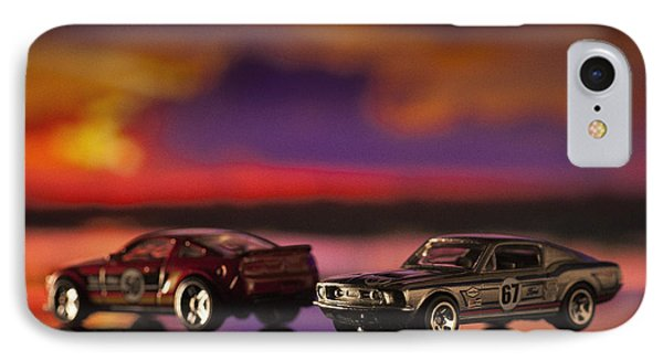 Dueling Mustangs IPhone Case by Bradley R Youngberg