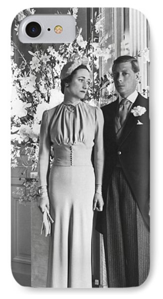 Duke And Duchess Of Windsor IPhone Case by Underwood Archives