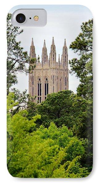 Duke Chapel IPhone Case by Cynthia Guinn