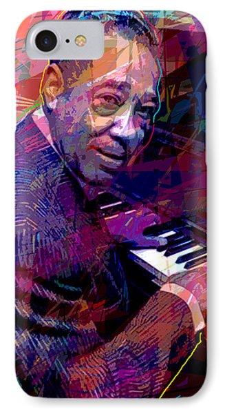 Duke Ellington At The Piano IPhone Case by David Lloyd Glover