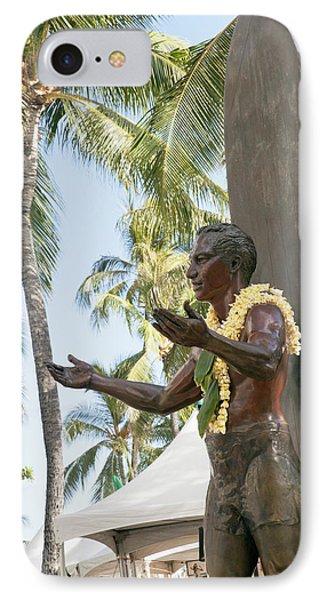 Duke Kahanamoku Statue Phone Case by Brandon Tabiolo