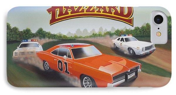 Dukes Of Hazzard Chase IPhone Case by Gregory Murray