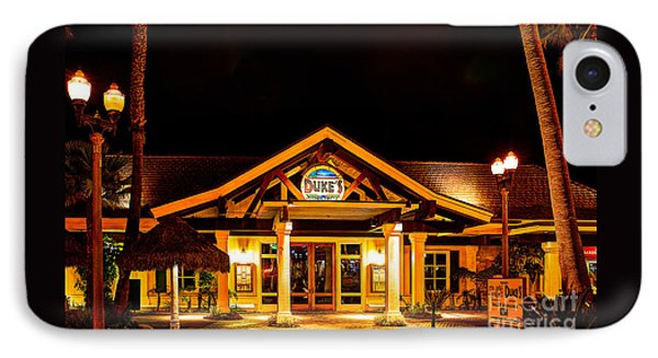 IPhone Case featuring the photograph Duke's Restaurant Front - Huntington Beach by Jim Carrell