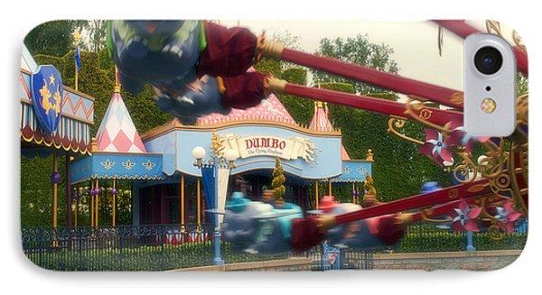 Dumbo Flying Elephants Fantasyland Signage Disneyland 01 IPhone Case by Thomas Woolworth